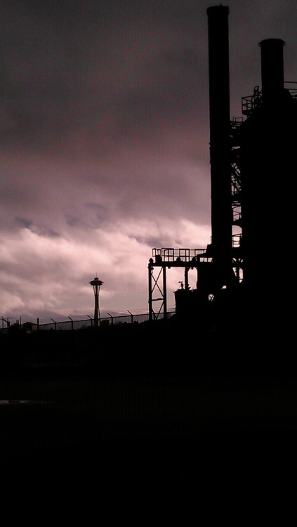 Gasworks Park in Seattle. This turned out to be a cool picture for cell phone quality.