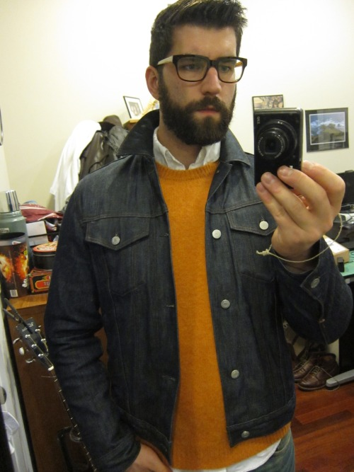 I'm leaning toward returning this orange shaggy dog sweater I got from Rugby. I think it looks better in photos than IRL. I do like the contrast with navy though, but that reminds me of UIllinois school spirit and that is just super corny in my mind for some reason.