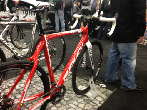 New 2013 Ridley xfire crossbike. Full carbon disc brakes, say goodbye to brake chatter.