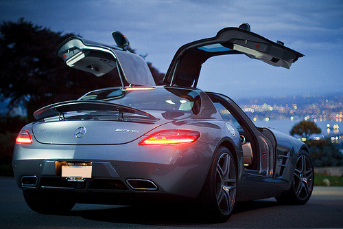 automotivated:  SLS AMG overlooking Vancouver (by mike pan)