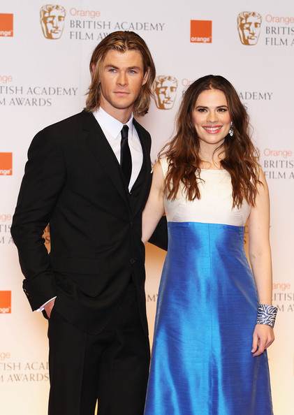 Chris Hemsworth & Hayley Atwell at the British Academy Film Awards 2012