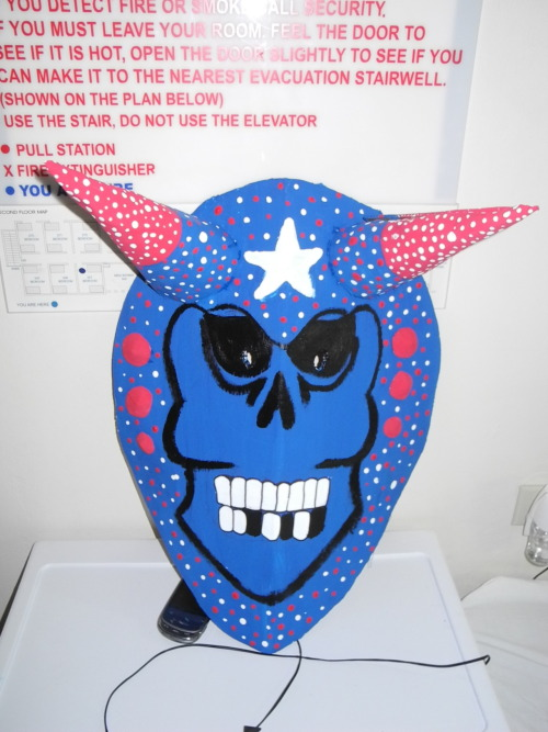 A mask I made for Jouvert.