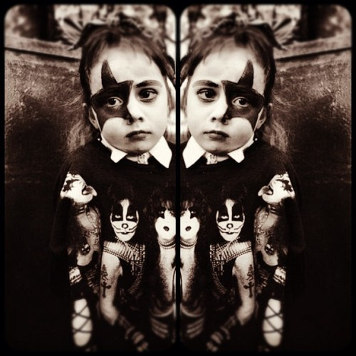 Kiss Kid #vintage #retro #glam #rock #kid (Taken with instagram)