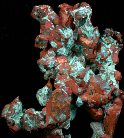 Copper (crystallized) with Chrysocolla from Michigan by John Betts