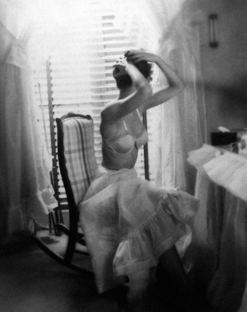"gethecool:  ""The Dressing Room"" by Lillian Bassman."