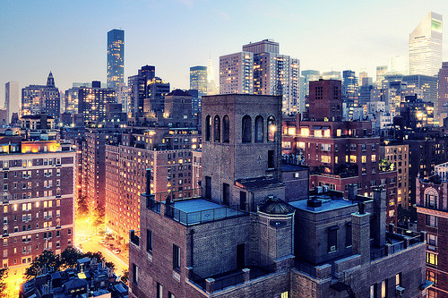 torace:  Upper East Side at Twilight, New York City (by andrew c mace)
