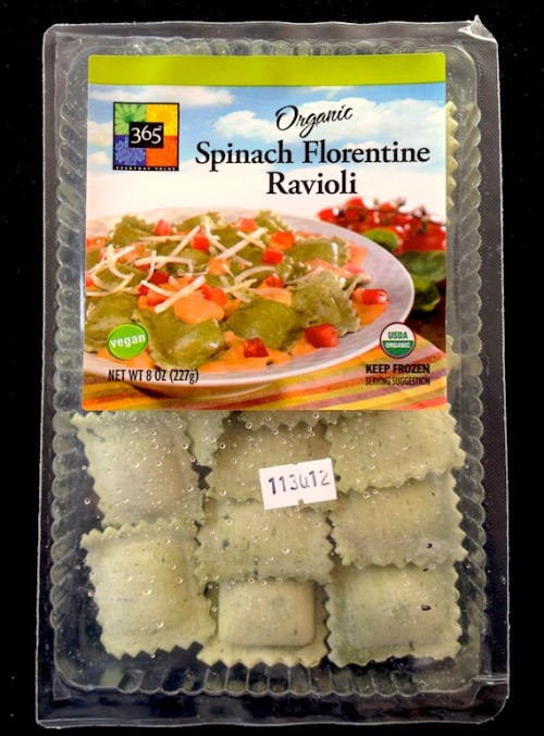 vegan spinach florentine ravioli from whole foods. this stuff rules.