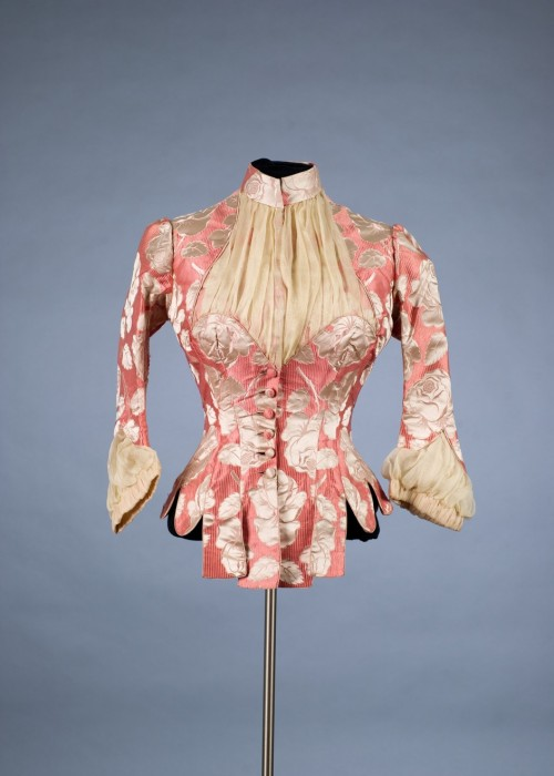 Bodice by Worth, 1880-85 Paris, Shelburne Museum Wouldn't you love to be able to have seen the whole dress?  I wonder if the rest of it is still out there?