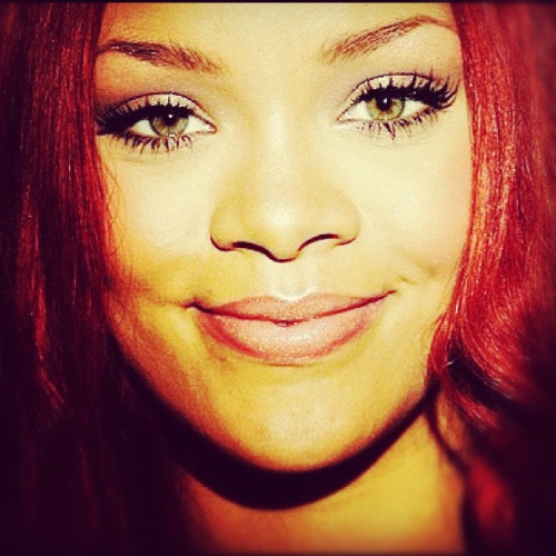 Rihanna; I miss her red hair- beautiful