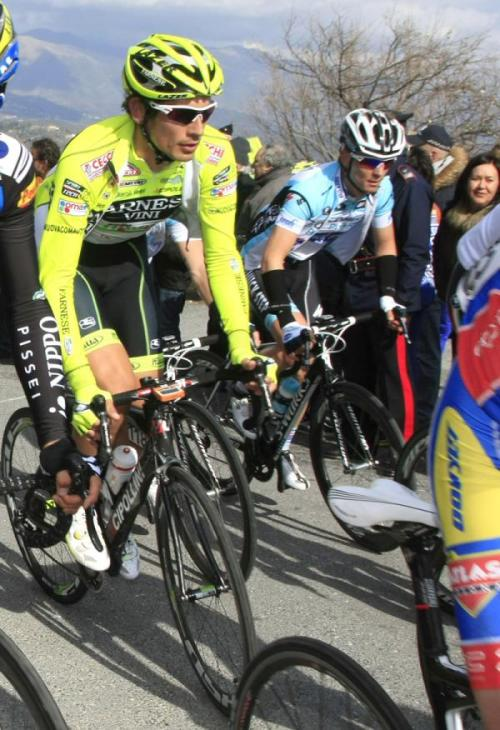 2012 Trofeo Laigueglia: We hope that editors at Cyclingnews require whoever mispelt mispelled misspelled Pozzato as Poozato will be required to write the correct spelling ten thousand times so it never ever happens again. (Credit: Roberto Bettini via Cyclingnews.com)