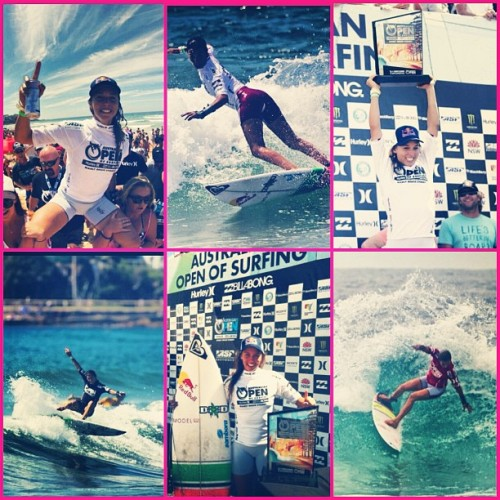 A huge congratulations to @sally_fitz on winning the @ausopenofsurf! #winning #gosally @roxyclothing @redbull #ausopenofsurf  (Taken with instagram)