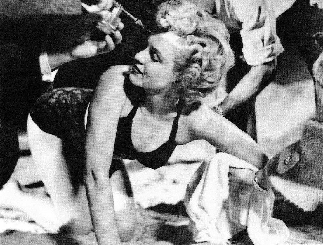 Marilyn Monroe during the filming of Clash by Night in 1952