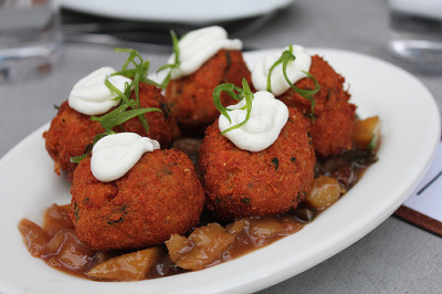 3amcravings:  Curried chickpea fritters (by mspt47)