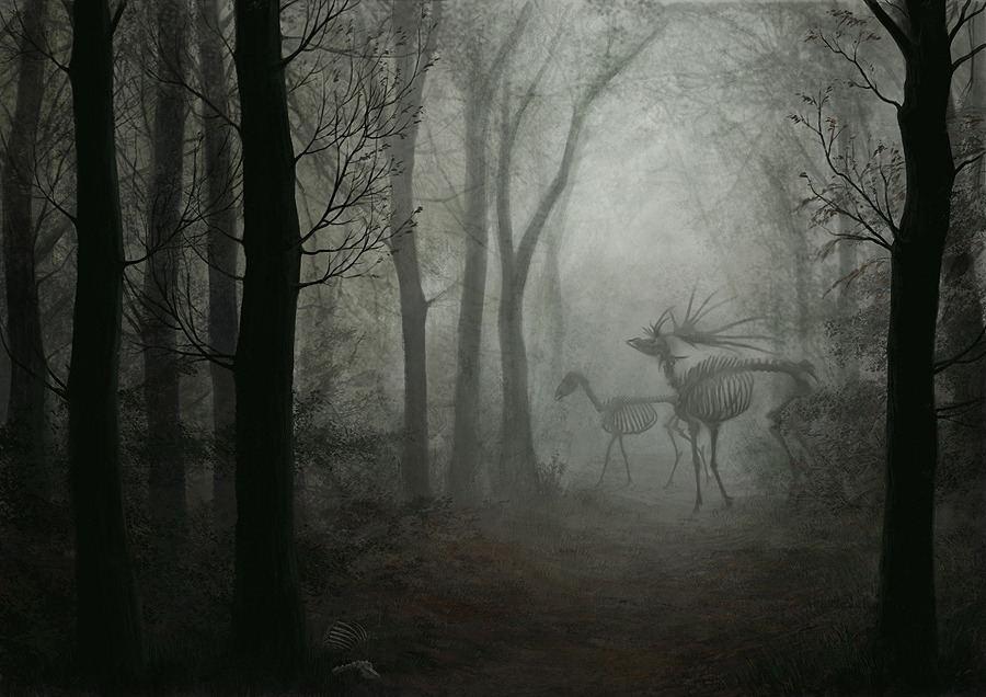 chainsawsavvy:  kushothemany:  Phantom Deer by Sheil.  goddamn this is amazing and has so many of my favourite things