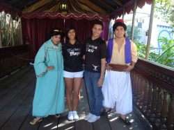 how does disneyland manage to get the most ugly jasmine and aladdin. wtf me and bianca are so much cuter then those shitty characters. :))