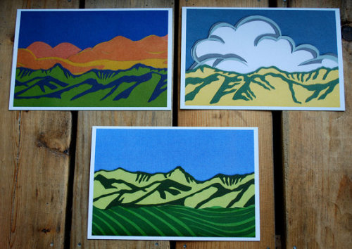 Montana on Etsy | Bridger Mountain Postcards