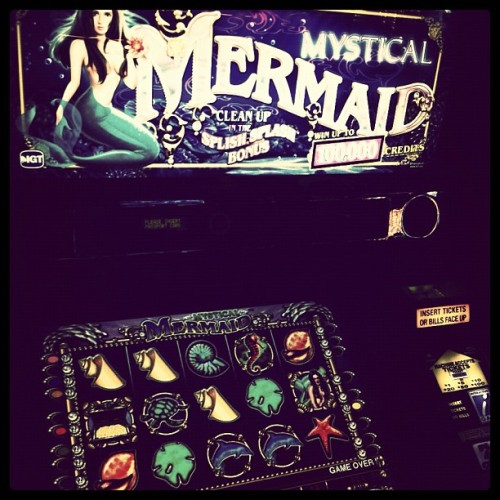 Put in $1 and won $24 - thanks mystical mermaid (Taken with Instagram at Peppermill Casino)