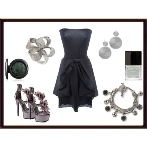Glamorous Night Out by krystle-fff featuring strappy heelsCynthia rowley dress, $410Penny Loves Kenny strappy heels, $85Marc by marc jacobs jewelry, $118Flower jewelryWet Seal disc jewelry, $6.50butter LONDON '3 Free - Spring/Summer 2012 Collection' Nail Lacquer, $14