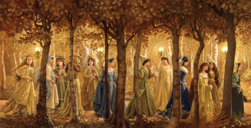 """The twelve dancing princess"" by Ruth Sanderson.  I would like make this painting on cross stitch. Great challenge !"