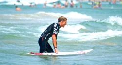 Matt Banting - winner of THE AUSTRALIAN OPEN OF SURFING - he got a bit emotional at hearing he had won