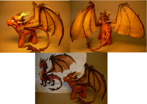 Ignitus dragon custom pony by ~Hatsetsut