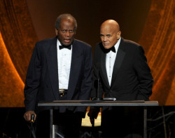 "Harry Belafonte & Sidney Poitier @ NAACP AWARDS 2012 Harry Belafonte won Outstanding Documentary - (Theatrical or Television) for his biopic ""Sing Your Song"" (HBO Documentary Films) & Outstanding Literary Work - Biography/Auto-Biography for his book ""My Song"" - Harry Belafonte (Knopf) Sing Your Song features the song ""Don't Give Up"" by Bantu, Abiodun, Xavier Naidoo & Jah Meek"