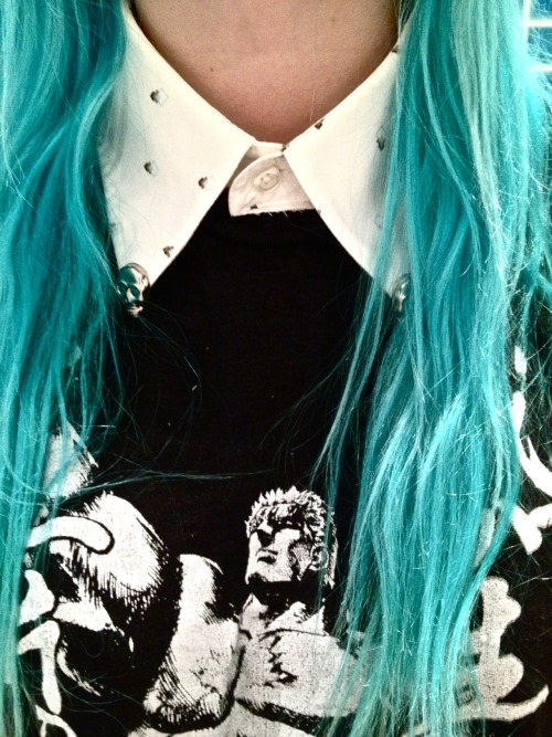 want blue fucking hair so bad!