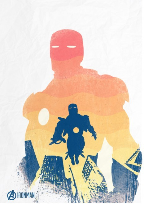 beautyliesinmovieposters:  The Avengers Iron Man minimal movie poster