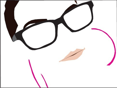 My first Illustrator work I like =] It's supposed to be me =P