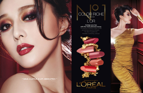 puiki:  Fan Bingbing by CHENMAN for L'OREAL