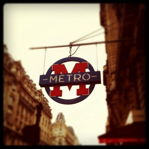 "Métro ""Sentier"" - Paris 2ème #underground #paris #metro #igersparis #paris (Taken with instagram)"