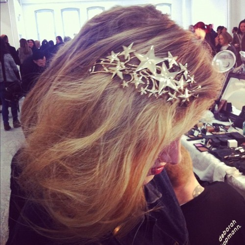 A sparkly and statement making head piece can make any bride special paired with a simple stated dress.
