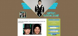 Layout Ashton Kutcher Brasil - Tema Base: Travel