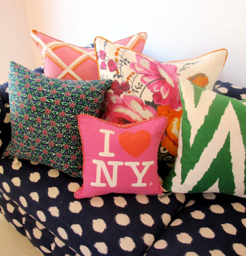 I love a bunch of different colourful pillows. Can't explain why really.