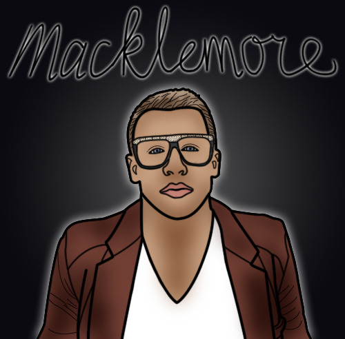 Macklemore drawing.