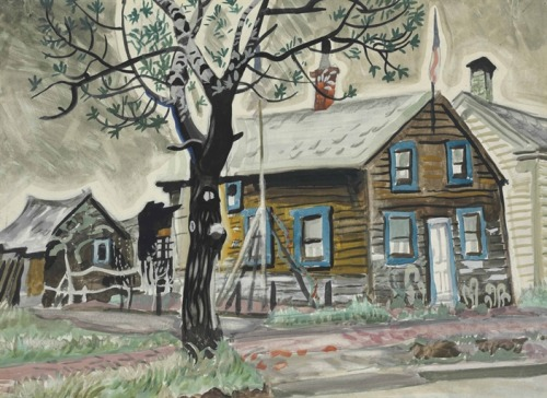 Patriot's House (watercolor and pencil on paper laid down on board, 1917) – Charles Ephraim Burchfield (1893–1967)