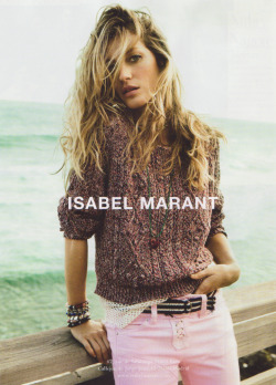 Gisele x Isabel Marant: Gisele can make pink jeans ruin your life.