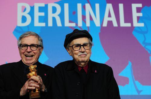 "I Fratelli Taviani took home the Golden Bear yesterday at the 62nd Berlinale film festival in Germany. An amazing achievement for Paolo and Vittorio, the Italian brothers who are both in their 80s and have been making groundbreaking movies since the '60s. I can't wait to see the winning film, Caesar Must Die, which is apparently a ""sort-of"" documentary about a group of inmates at a Roman prison rehearsing for an ""in-house"" production of Shakespeare's Julius Caesar. Yeah, I'm sold, too. Click through image for link to article."