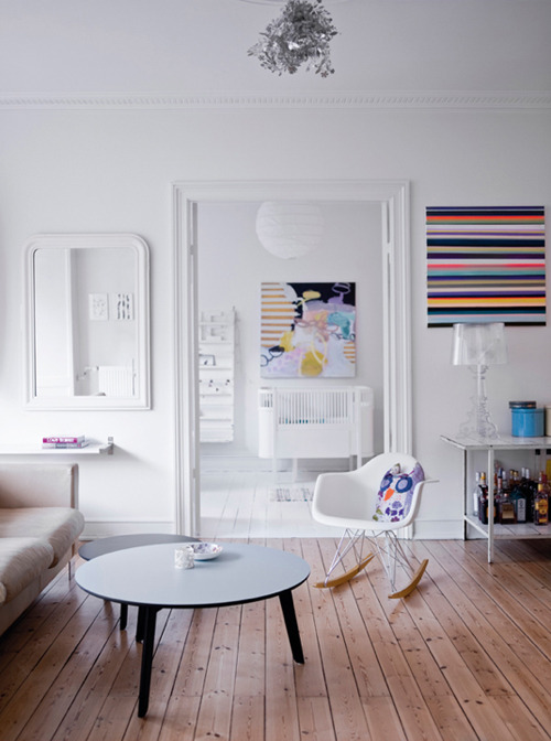 micasaessucasa:  (via danish apartment with touches of color | the style files)   I've decided that Scandinavia and I would really get along.