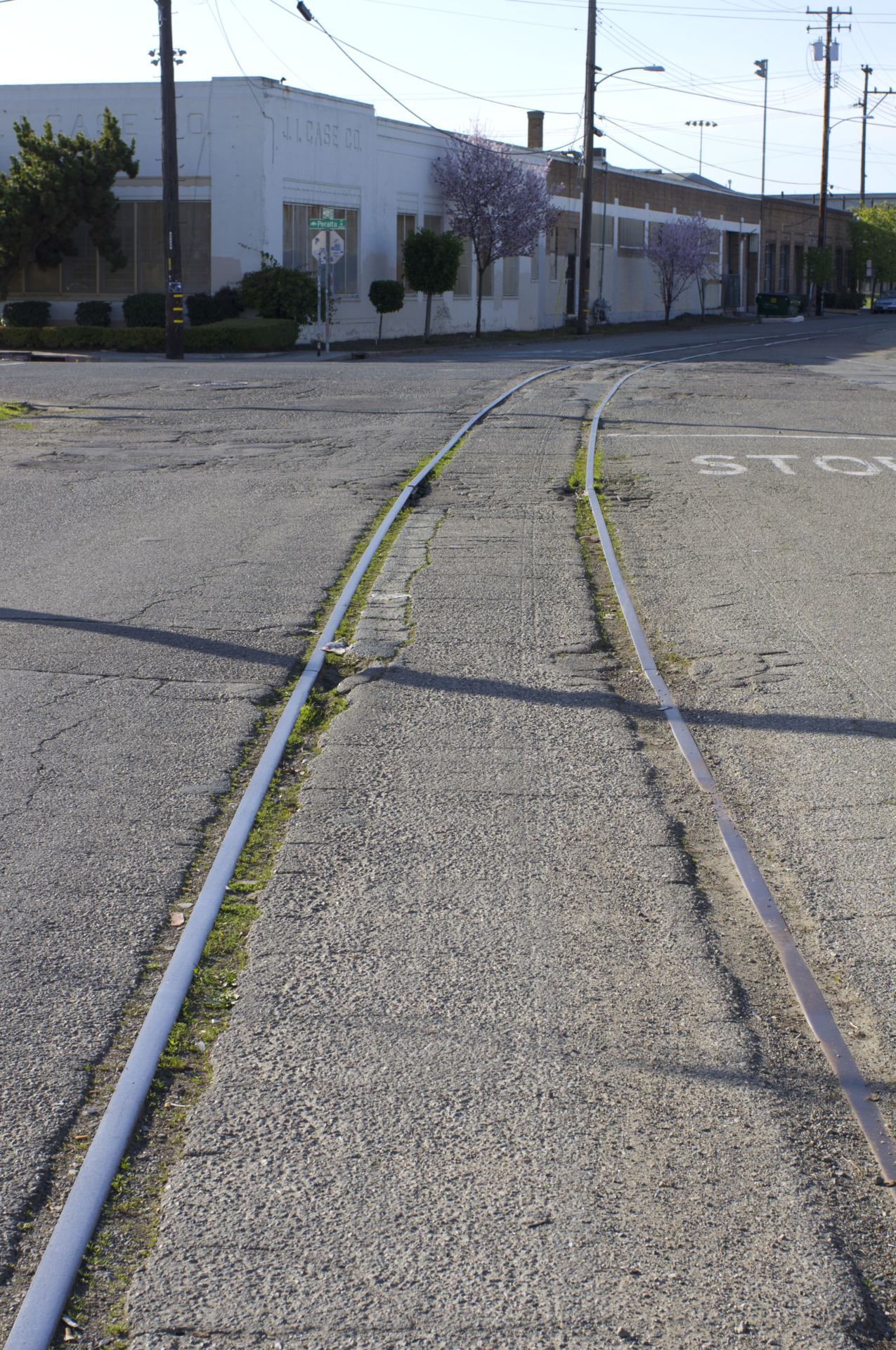 I went looking for train tracks and highways yesterday in West Oakland with two friends. We found some.