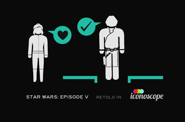 Star Wars Episodes IV, V + VI Retold in Iconoscope   Check out this series of illustrations by Wayne Dorrington   Episode IV  :: Episode V  ::  Episode VI