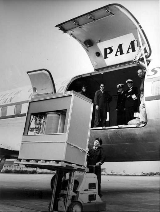 In September 1956 IBM launched the 305 RAMAC. It weighed over a ton and stored 5 MB of data.