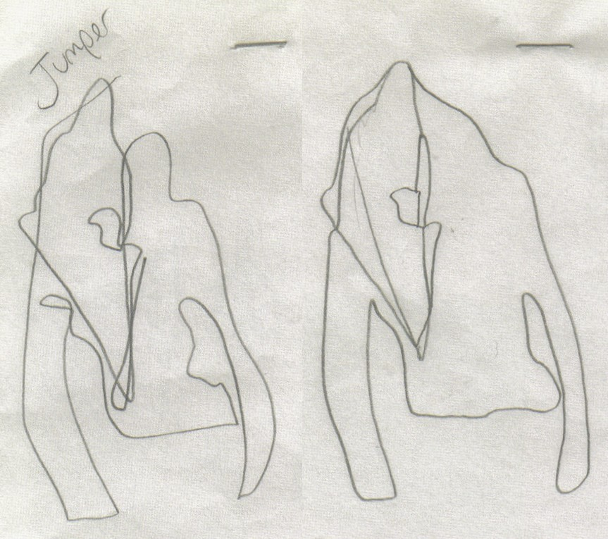 blind-folded sketches by hussein chalayan for his spring summer 2005 collection blindscape