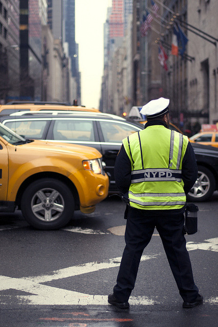Traffic cop. Park Ave, New York.