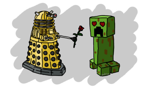 for whovians and minecrafters - by Beatriz M.