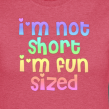 bekaloveshugs:  I'm not short, I'm just fun sized!