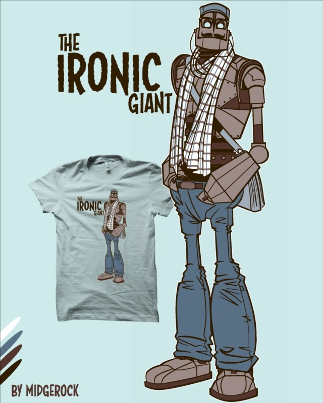 """""""The Ironic Giant"""" by midgerock I was into robots before everyone else."""