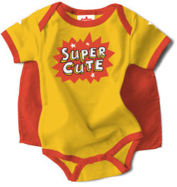 Super Cute Snapsuit with Cape by Wry Baby