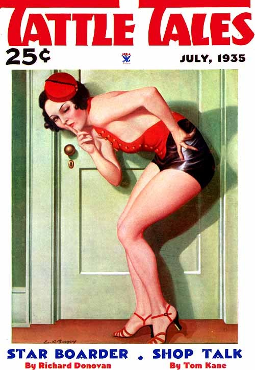 hollyhocksandtulips:  Tattle Tales, 1935 Illustration by Earle Bergey