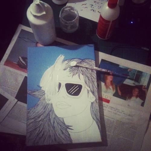 Out with the old, in with the new. #paint #illustration  (Taken with instagram)